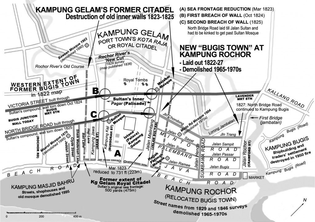 Kampung Gelam & Kampung Rochor-An Overview _Diagram of early morpological developments (Imran bin Tajudeen 2005)