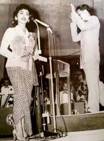 Saloma with Dick Abel, photo courtesy of Ahmad Fauzee