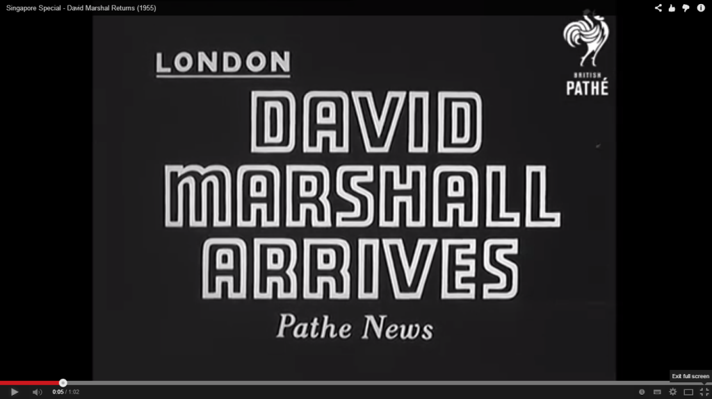David Marshal arrives in London