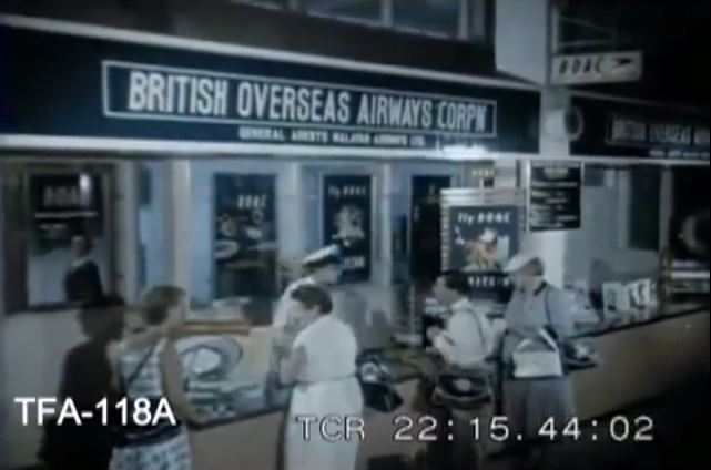BOAC Counter in Paya Lebar Airport (British Overseas Airways Corporation)