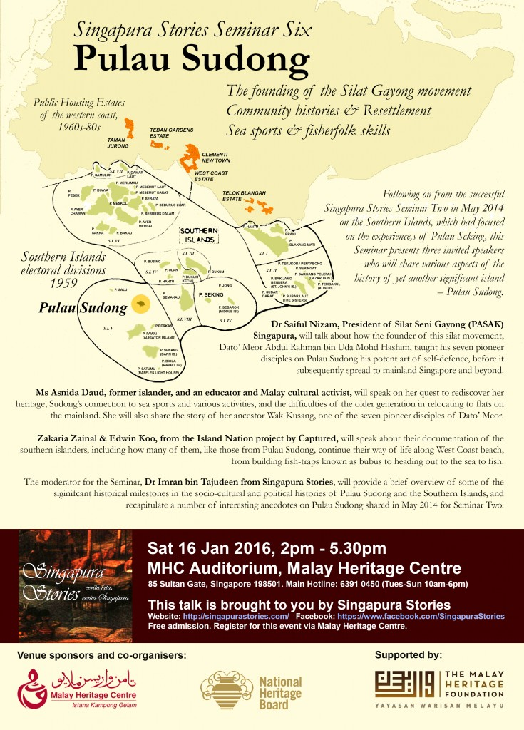 Singapura Stories Seminar Six: Pulau Sudong histories