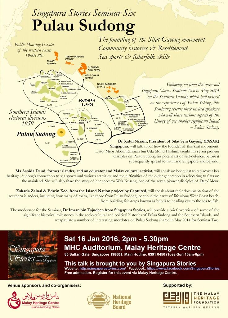 Singapura Stories Seminar Six: Pulau Sudong histories