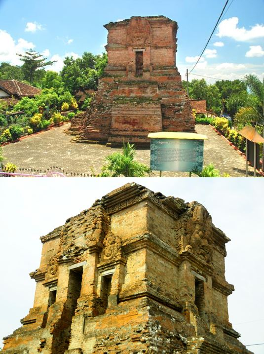 A general view and detail of the ruins of Candi Ngetos in East Java, presumed to be a temple dedicated to to Hayam Wuruk (Learned Rooster), King of Majapahit from 1350 to his passing in 1389. Photographs from the web.